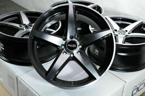 "15"" Wheels Honda Accord Civic Miata Clubman Cooper Corolla Yaris Black Rims (4)"