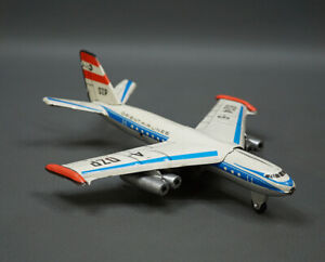 1970's DDR German MSB MSW Airplane Orient Airlines Friction Litho Tin Toy 7''