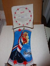 BARBIE STATUE OF LIBERTY LIMITED EDITION PLATE # 175544 WITH CERTIFICATE NEW BOX