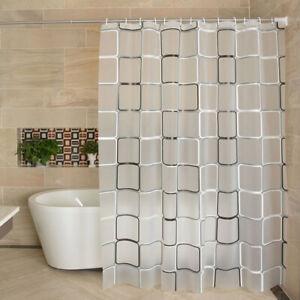 Modern Shower Curtain Starfish Partition Waterproof Mildew PEVA Bathroom Curtain