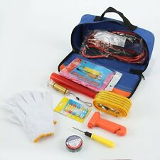 Roadside Emergency Kit Safety Booster First Aid Travel Car Auto Multi Tool Bag