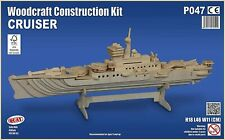 CRUISER SHIP Woodcraft Construction Kit - Wooden Model DIY 3D Puzzle ADULTS/KIDS