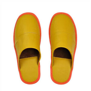 Genuine Leather Women Men Home Slippers Autumn Spring Indoor Flat Shoes Slides