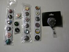Lanyard, Silver Retractable Heart W/21 Centers, Brand New