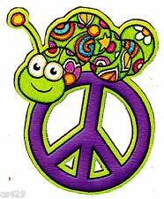 """5.5"""" PEACE SIGN INCH WORM  FLOWERS WALL SAFE STICKER CHARACTER BORDER CUT OUT"""