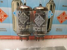 TELEFUNKEN ECC82  12AU7  PLATINUM MATCHED PAIR Gm & Ip  TV7  #1A