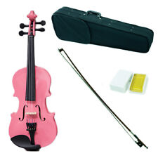 *GREAT GIFT* Children's 1/16 Size Pink Violin w Rosin, Cute Violin Case and Bow