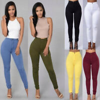 Pencil Jeans Women Fit Stretch Casual Skinny Pants High Waist Trousers Plus Size