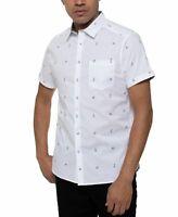 Kenneth Cole Mens Shirt White Size Small S Button Down Polar-Bear $69 #217
