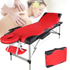3 Fold Portable Facial SPA Bed Tattoo 84 inch Massage Table W/ Carry Case