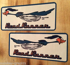 2er Set Roadrunner Beep Beep Oldschool Sticker Adesivo/Hotrod Rockabilly