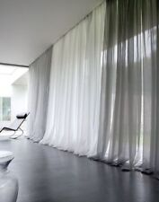 Solid Pure White Sheer Voile Window Curtain In All Sizes Overstock Sale!
