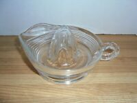 Vintage 1950's clear Glass Juicer Reamer ~Great Grandma's Kitchen gadget
