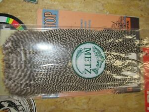 Brand New Metz Grizzly #2 Hackles Saddles Fly Tying Flies Fishing Trout Tie