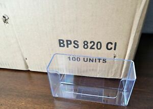 """Case of 100 New Acrylic Brochure holder 5.2 wide 5.19"""" Wide x 2.75"""" Tall X 1.44"""""""