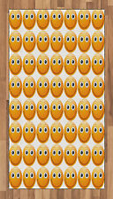 Colorful Emoji Area Rug Decorative Flat Woven Accent Rug Home Decor 2 Sizes