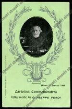 Giuseppe Verdi A Cartoline Da Collezione A Tema Personaggi Famosi Ebay