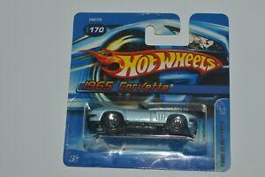 2005 Hot Wheels 1965 Corvette Convertible Blue Color Short Card Thailand MIC