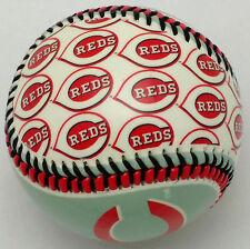 "Cincinnati Reds Baseball--""REPEAT LOGO"" Design Made of Hard Plastic by Franklin"