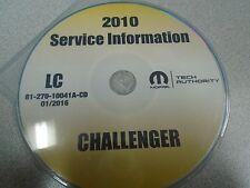 2010 DODGE CHALLENGER Service Shop Repair Manual CD DVD DEALERSHIP BRAND NEW OEM