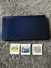 New Style Nintendo 3DS XL Metallic Blue Console With Games And Charger Bundle
