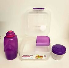 Sistema Lunch cube avec compartiments /& yaourt pot 2 l micro-ondes Repas Nourriture