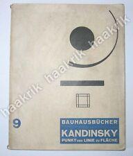 W. KANDINSKY Punkt und Linie zu Fläche. Bauhausbücher 9