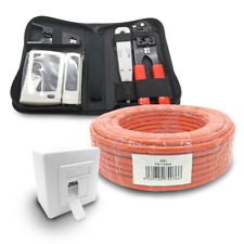Cat 7 verlegekabel 100m cable de red de red lata cat6a herramienta set red