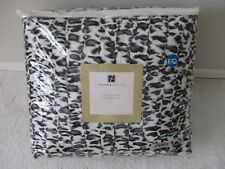 CONCIERGE COLLECTION SNOW LEOPARD FAUX FUR FULL/QUEEN COMFORTER SET - NEW