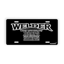 """Welder Quote Black Novelty License Plate Automobile  6"""" x 12"""" Patchlife Canada"""