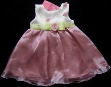 CUTEY COUTURE Mädchenkleid Gr. 2-3 Jahre rosa-weiß verspielt