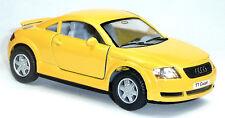 NEU: Audi TT Coupé Sammlermodell ca. 1:32 / 12,5cm gelb Neuware von KINSMART