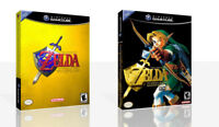 - Legend of Zelda: Ocarina of Time Master Quest Game Cube Case + Box Art Only