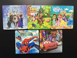 Hot New Disney Wooden 16 Pieces Toy Story Cars Frozen Princess Jigsaw Puzzle
