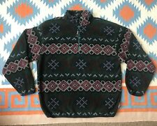 Vintage Nautica 1/4 Zip Aztec Fleece Sherpa Pullover Jacket XL Made USA Limited