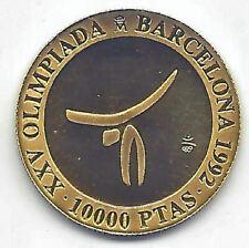 España 1990 Olimpiada Barcelona  10.000 Pesetas oro 2ª Gimnasia PROOF