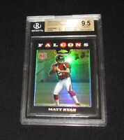 2008 Topps Chrome MATT RYAN #TC166 Black Refractor Rookie Falcons RC BGS 9.5