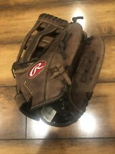 """Rawlings P130HFL Leather Softball Glove Mitt 13in 13"""" Outfield RHT GREAT COND."""