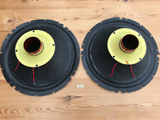 """Pair EXTREMELY rare rubber TANOPLAS TANNOY recone re-cone kit 12"""" Gold (753)"""