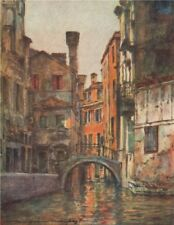 VENEZIA. 'Canal Priuli' by Mortimer Menpes. Venice 1916 old antique print
