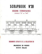 SCRAPBOOK N°39 - Dessins ferroviaires (chemin de fer, train, locomotive)