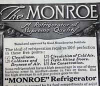 1916 Monroe Refrigerator Co Lockland Ohio Print Ad