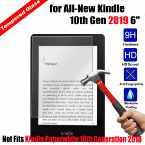 """TEMPERED GLASS SCREEN PROTECTOR COVER FOR AMAZON KINDLE 6"""" (10th Gen-2019)"""