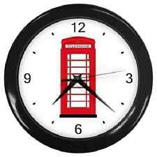 RED PHONE BOOTH PHONE BOX WALL CLOCK CLASSIC **GREAT GIFT ITEM**