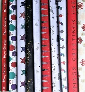 10 X CHRISTMAS XMAS WRAPPING PAPER SHEETS ASSORTED DESIGNS 70 X 49 CMS