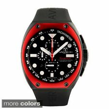 NEW Avio Milano AVI Mens Super Chrono Interchangeable Aluminum Black/Red Watch