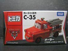 Takara Tomy Tomica Disney Pixar Cars Mater Fire Engine Truck DieCast car C-35
