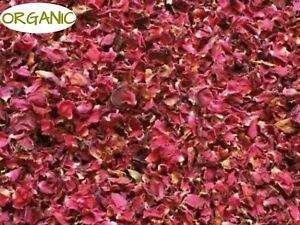 ORGANIC RED ROSE PETAL 100g Dried Wedding Tea - No Added DYES Healthy