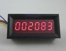 6 Digits Digital Tachometer Speed Measure Meter panel 999999 RPM Red LED Display
