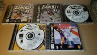 Lot of 5 Game Day 98, 99, 00, and 01 PlayStation PS1 Football, Shoot Out 97